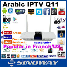 Best XBMC set top box quad cort android tv box arabic iptv box Frence/Tunisian/Bein sport Canal sat channels hot for France