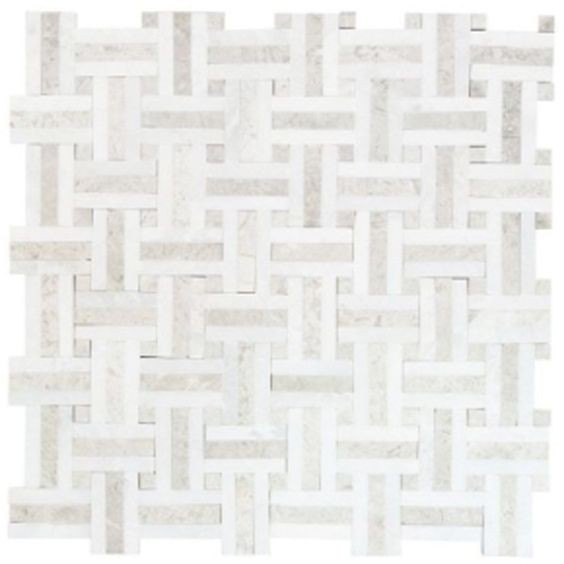 Windswept 13 in. x 13 in. x 8 mm Marble Mosaic Wall Tile.jpg