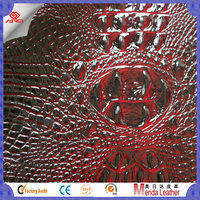 MRD3135 Hot sell PVC leather with crocodile skin emboss and shining surface