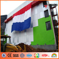 2-6mm thick colorful design of building facades