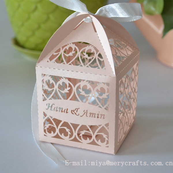 Laser Cut Filigree Favors Box For Wedding,Peach Wedding Gift Boxes ...