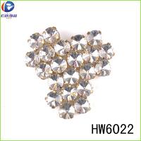 Clear rhinestone chain silver 925 slipper accessory