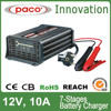7 stages 12 volt Rohs AC lead acid battery charger 12V 10A with battery repairing function