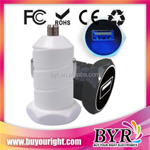 USB car charger one port for mobile phone