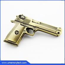 2015 gold handgun bulk stock cheap metal usb flash drives different models pen drive