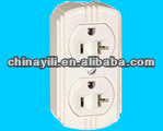 20A double three pin socket outlet