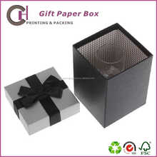 Black high quality cardboard gift packaging box with cheap price