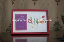 Marcos mdfpicture, de color rojo y blanco marco de fotos, marcos de foto para la venta