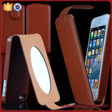high quality Trade Assurance cell phone leather mirror case for iphone in mobile phone accessories