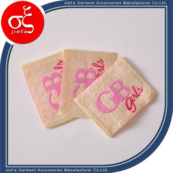 Fancy custom woven label clothing labels and tags for Woven t shirt tags