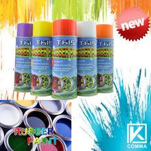 450ml 2013 popular pintura de caucho para el exterior para el cuidado del automóvil
