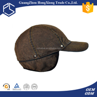 winter solid color women baseball cap with ear flaps