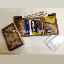 Camouflage Trifold Wallet with clear ID window on side