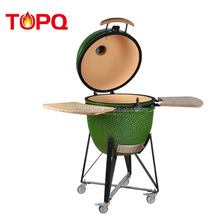 Outdoor shiny ceramic commercial charcoal bbq grill