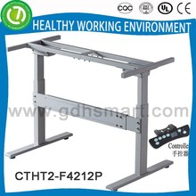 Secretary height adjustable desk frame & executive standing up and down desk leg