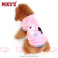 New fall and winter cartoon pink dog hoodie pet Clothes
