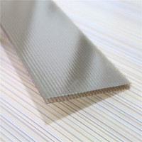 Easy insta4mm 100% Virgin Grade A PC Resin 50 Micron UV Coating Polycarbonate Twin Wall Hollow Sheets Cheap Price Roofing Panels