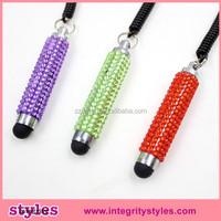 Jeweled stylus touch pen,smart phones ballpoint pen