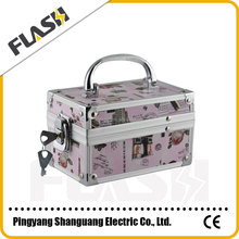 High Quality Aluminum Beauty Box for Makeup Customized Vanity Case with Lock