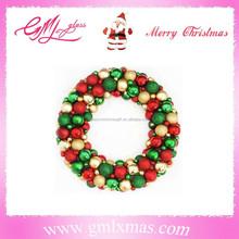 personalized christmas ball garland,xmas wreath ball decoration,luxury decorative christmas wreath ornament