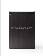 New 2 Door Shoe Storage Cabinet Dark Walnut Brown Shoe Racks