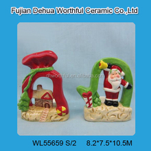 Hot selling ceramic christmas crafts 2015 for christmas party decoration