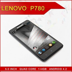 "Original Lenovo P780 Cell Phones Android MTK6589 Quad Core 5"" 1280x720 Gorilla Glass Screen 1GB RAM 8.0MP 4000mAh Battery"