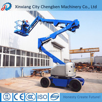 360 Degree Rotation Electric/Diesel Small Boom Lifts for Sale