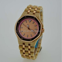 New Arrivel Hot selling Time proof bamboo watch with zinc alloy case & band ,Stainless Steel Butterfly Buckle and Case Back