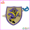 Hot selling wooden toy shields and swords for kids,shield toys for children,hot sale party toy Sword for baby W01B005