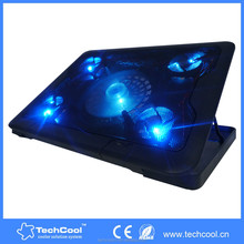 five Blue LED fans folding usb laptop stand with cooling pad for 17ich laptop