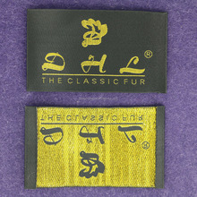 Wholesale Satin Woven Clothing Label With Edges