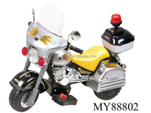 ride-on car three wheel electric motorcycle for kids with police light