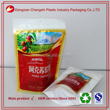china manufacturer plastic pouches with zipper