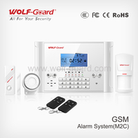 Wireless/wired GSM Cell phone call alarm system with SMS alert for House defense