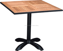 Comedor exterior alu mesa de madera, mesa de café