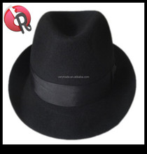 NEW BLACK COLOUR WOOL TRILBY FEDORA HAT