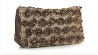 Brown Custom Travel Women Standup Pouches Handbag