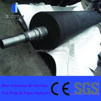 paper making forming section use large diameter rubber coated breast roll for stablize felt of forming section