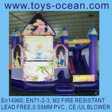 inflatable princess 5 in 1 combo game /air jumping bouncer /princess bouncer combo
