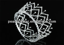 Bridal Wedding Bride / Flower Girl Crystal Medium Size Full Circle Round Tiara Crown CT1710