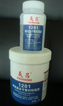 Two components epoxy glue with ratio 1:1 4:1 100:6