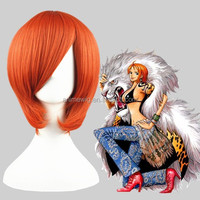 Wholesale 14inch Short Straight Angel Beats Otonashi Yuzuru Orange Hair Wigs Synthetic Anime Cosplay Costume Hair Wig002C