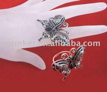 Fashion Allory Rhinestone Adjustable Butterfly-Shape Finger Ring
