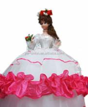 Custom soft bebé hermosa princesa doll, muñecas étnicas, zapatos de la muñeca pvc