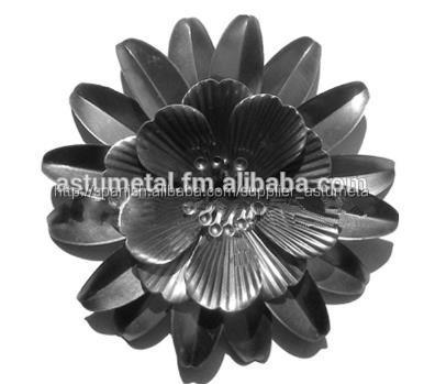 artesanía de metal de flores de hierro para el hogar y el jardín