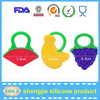 Christmas on sales Fda natural silicone baby teether toy cute fruit shape baby teething toy