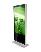 Supermarket high-end large 42,55,65 inch floor stand digital signage, HD computer ad player