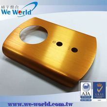Brushed finish anodized stamped aluminum covers for electronic new products