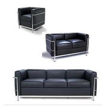 Le Corbusier Sofa-LC2/sofa LC2 dos plazas por Le Corbusier